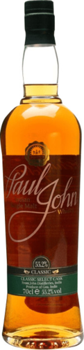 Paul John Classic Select Cask Indian Single Malt Whisky - 55,2% Vol. - 0,7 ltr.