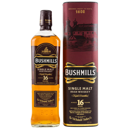 Bushmills Three Wood Irish Single Malt Whiskey - 16 Jahre - 40,0% Vol. - 0,7 ltr.