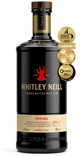 Whitley Neill Original Handcrafted Dry Gin - 43,0% Vol. - 0,7 ltr.