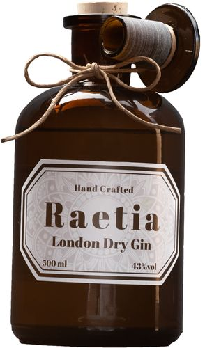 Raetia London Dry Gin Hand Crafted - 43,0% Vol. - 0,5 ltr.