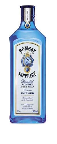 Bombay Sapphire London Dry Gin - 40,0% Vol. - 1,0 ltr.