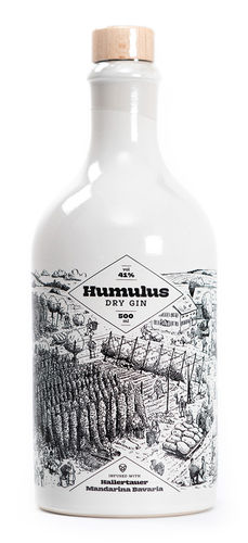 Humulus Dry Gin - 41,0% Vol. - 0,5 ltr.